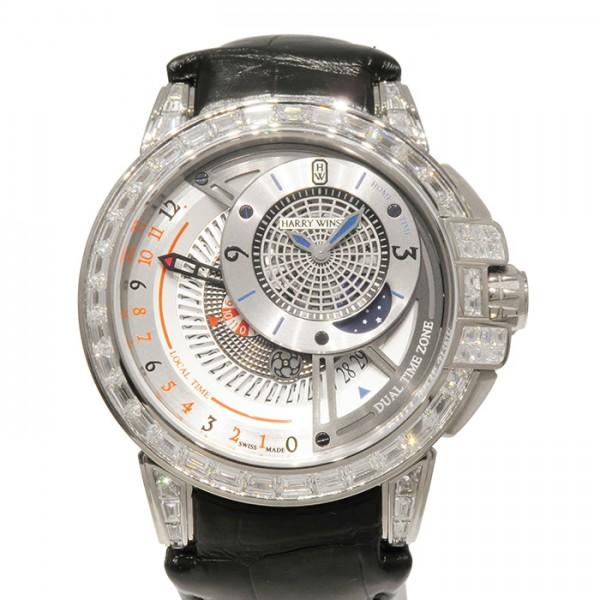 ハリー・ウィンストン HARRY WINSTON オーシャン デュアルタイム オートマティック OCEATZ44WW013 シルバー文字盤 メンズ 腕時計 【新品】
