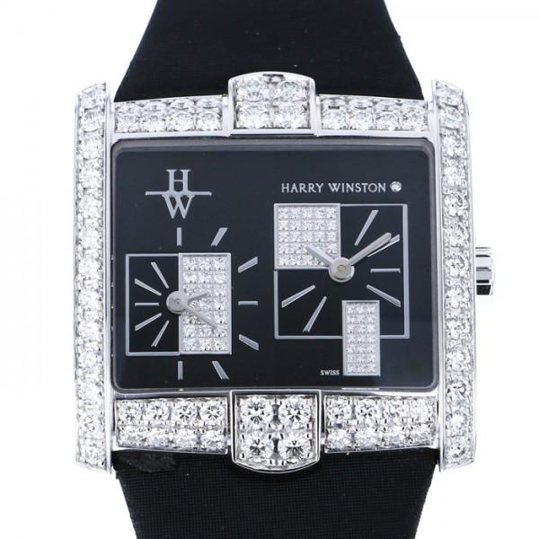 ハリー・ウィンストン HARRY WINSTON アヴェニュー スクエアード 350LQTZWLKD4/00 シルバー/ブラック文字盤 レディース 腕時計 【新品】