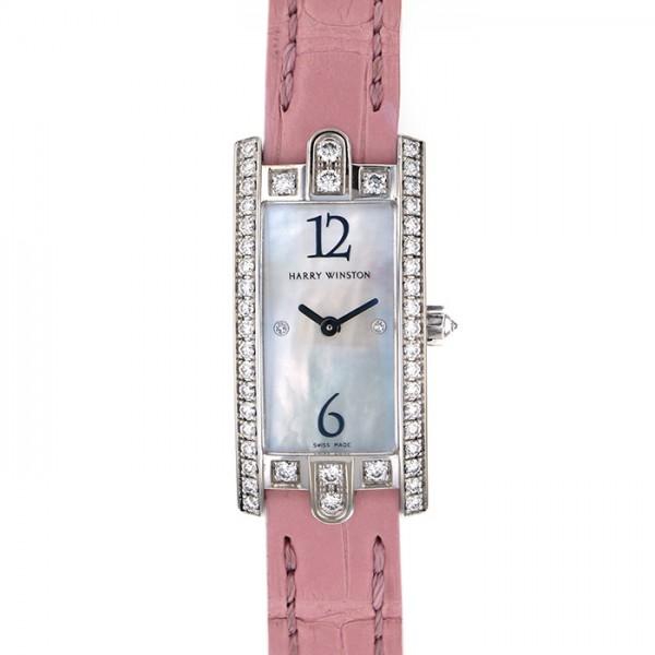 ハリー・ウィンストン HARRY WINSTON アヴェニューCミニ 332LQWLMDD3.1 ホワイトシェル文字盤 レディース 腕時計 【中古】