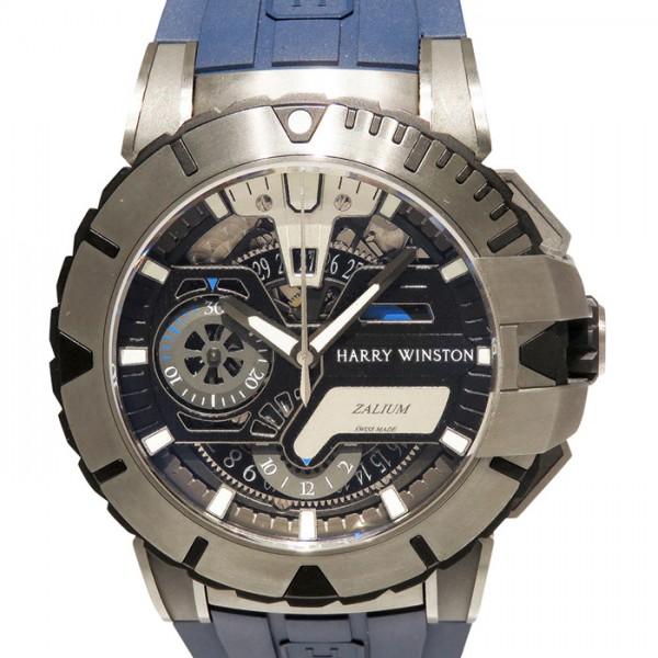 ハリー・ウィンストン HARRY WINSTON オーシャン スポーツ クロノグラフ 世界限定300本 OCSACH44ZZ006 ブラック文字盤 メンズ 腕時計 【中古】