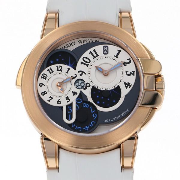 ハリー・ウィンストン HARRY WINSTON オーシャン デュアルタイム OCEATZ44RR001 ブラック/シルバー文字盤 メンズ 腕時計 【中古】