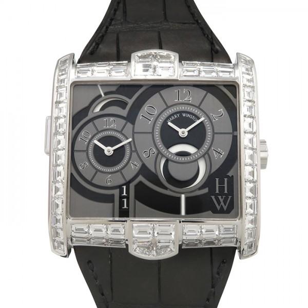 ハリー・ウィンストン HARRY WINSTON アヴェニュー スクエアード AVSATZ45WW003 グレー文字盤 メンズ 腕時計 【未使用】