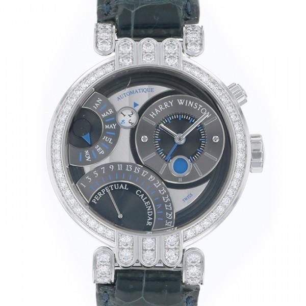 ハリー・ウィンストン HARRY WINSTON プルミエール パーペチュアルカレンダー 200/MAPC41W グレー/ブラック文字盤 メンズ 腕時計 【中古】