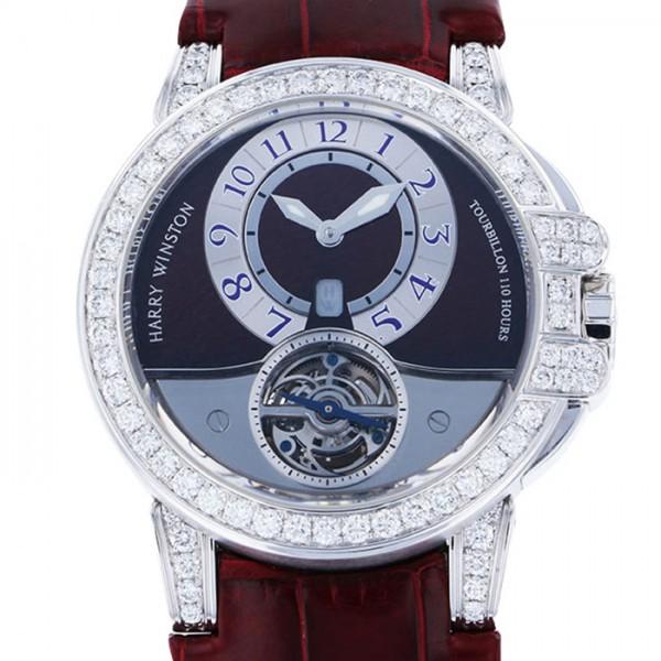 ハリー・ウィンストン HARRY WINSTON オーシャン トゥールビヨン 400/MAT44W グレー/シルバー文字盤 メンズ 腕時計 【中古】