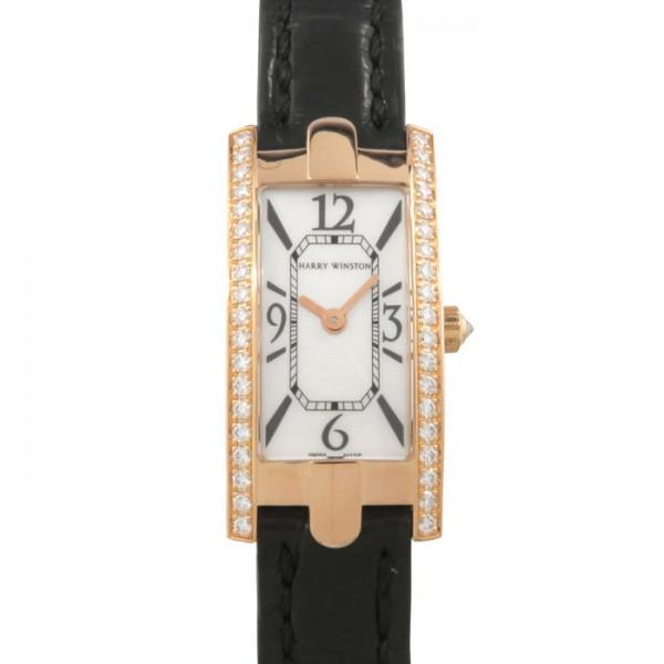 ハリー・ウィンストン HARRY WINSTON アヴェニューC ミニ 日本限定 332/LQRL.M/D2.1/SP1 ホワイトシェル文字盤 レディース 腕時計 【中古】