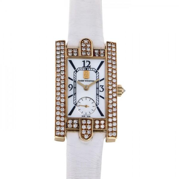 ハリー・ウィンストン HARRY WINSTON アヴェニュー AVEQHM21YY035 ホワイト文字盤 レディース 腕時計 【中古】