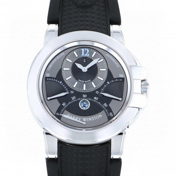 ハリー・ウィンストン HARRY WINSTON オーシャン トリレトロ クロノグラフ OCEACT44WW031 グレー/ブラック文字盤 メンズ 腕時計 【中古】