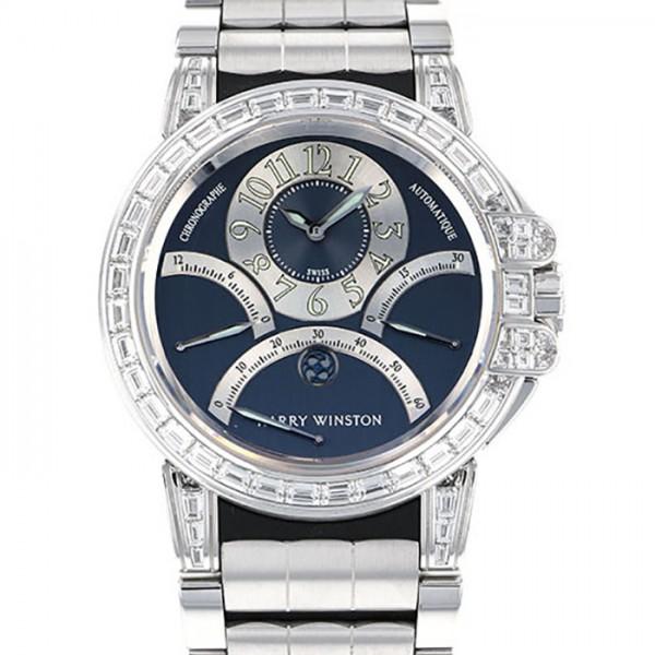 ハリー・ウィンストン HARRY WINSTON オーシャン クロノグラフ トリレトログラード 400/MCRA44W ブラック文字盤 メンズ 腕時計 【未使用】