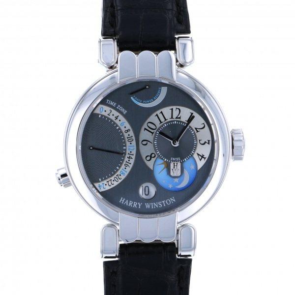 ハリー・ウィンストン HARRY WINSTON プルミエール エキセンター タイムゾーン 200/MMTZ39WLA グレー/シルバー文字盤 メンズ 腕時計 【中古】