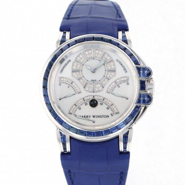 ハリー・ウィンストン HARRY WINSTON オーシャン クロノグラフ トリレトログラード 400/MCRA44W ホワイト文字盤 メンズ 腕時計 【新古品】