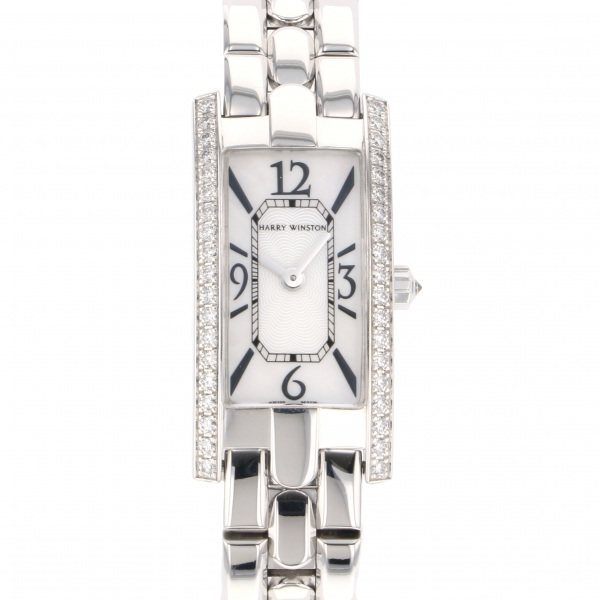 ハリー・ウィンストン HARRY WINSTON アヴェニュー Cミニ 332LQW ホワイト文字盤 レディース 腕時計 【中古】