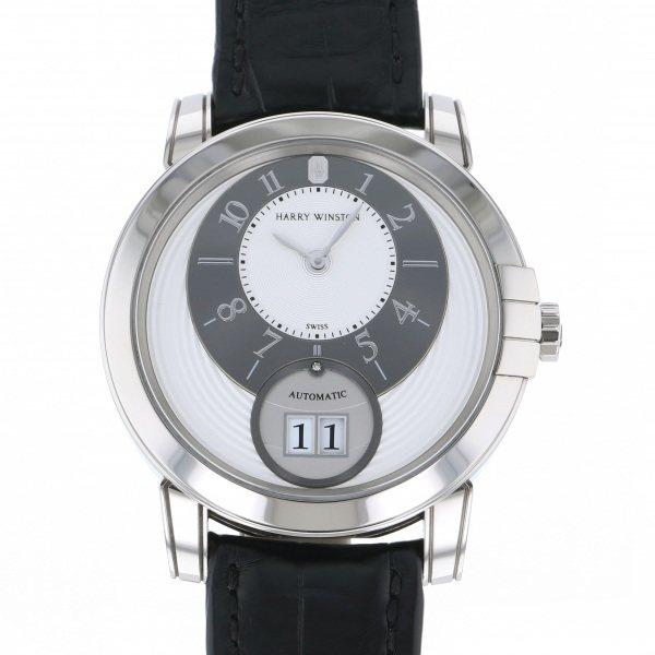 ハリー・ウィンストン HARRY WINSTON ミッドナイト ビッグデイト MIDABD42WW001 シルバー/グレー文字盤 メンズ 腕時計 【中古】