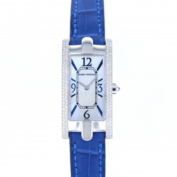 ハリー・ウィンストン HARRY WINSTON アヴェニュー 330/LQWLMD22 ホワイト文字盤 レディース 腕時計 【中古】