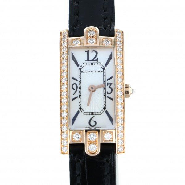 ハリー・ウィンストン HARRY WINSTON アヴェニュー C ミニ 332LQR ホワイト文字盤 レディース 腕時計 【中古】