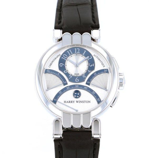 ハリー・ウィンストン HARRY WINSTON プルミエール エキセンター トリレトロ クロノグラフ 200/MCRA39W シルバー/グレー文字盤 メンズ 腕時計 【中古】