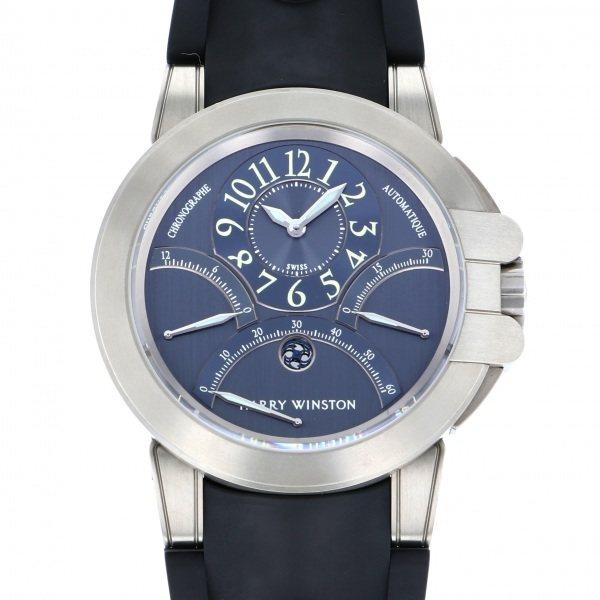 【全品 ポイント10倍 4/9~4/16】ハリー・ウィンストン HARRY WINSTON その他 オーシャン プロジェクト Z1 400/MCRA44.ZCA ブルー文字盤 メンズ 腕時計 【中古】