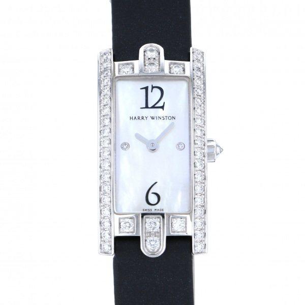 ハリー・ウィンストン HARRY WINSTON アヴェニュー C ミニ 332LQWL.MD/D3.1 ホワイト文字盤 レディース 腕時計 【中古】