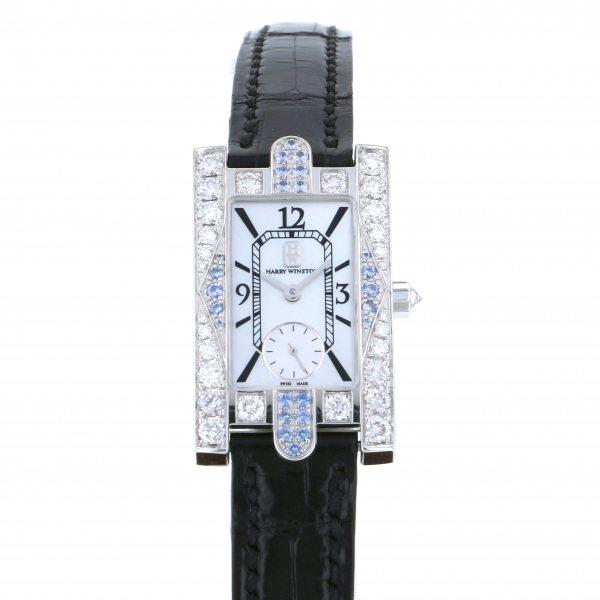 ハリー・ウィンストン HARRY WINSTON アヴェニュー 310/LQW ホワイト文字盤 レディース 腕時計 【中古】