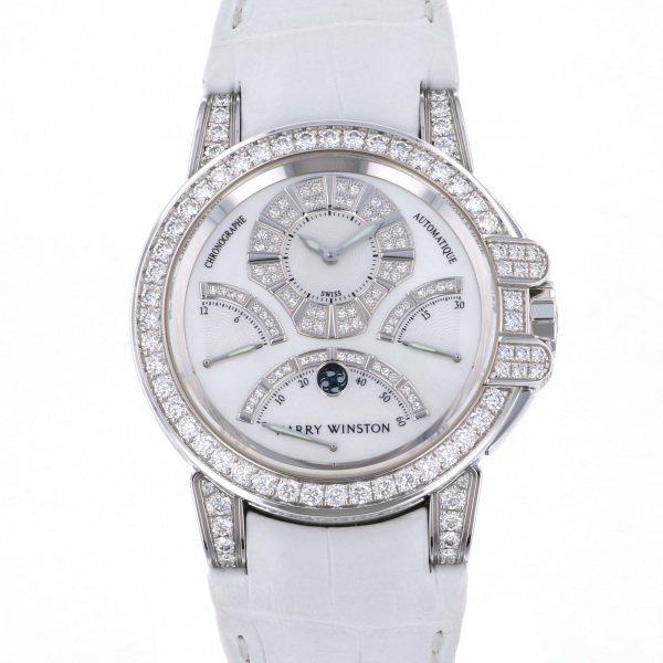 ハリー・ウィンストン HARRY WINSTON オーシャン クロノグラフ トリレトログラード 400/MCRA44WL.MD/D3.1 ホワイト文字盤 メンズ 腕時計 【中古】