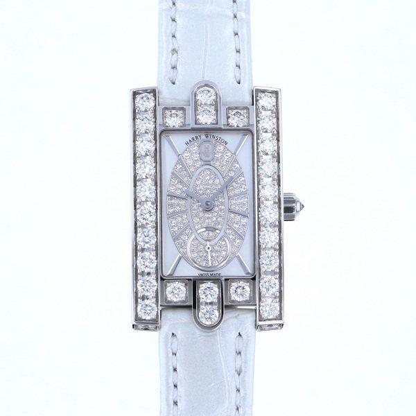 ハリー・ウィンストン HARRY WINSTON アヴェニュー レディアヴェニュー エリプティック AVEQHM21WW241 ホワイト文字盤 レディース 腕時計 【新品】