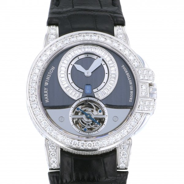 ハリー・ウィンストン HARRY WINSTON オーシャン トゥールビヨン 世界限定15本 400/MAT44WL.D00 グレー/シルバー文字盤 メンズ 腕時計 【中古】