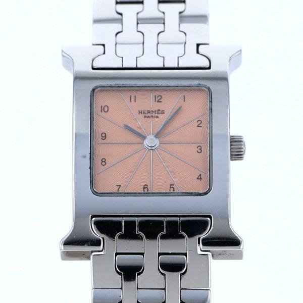 エルメス HERMES その他 Hウォッチ HH1.210 ピンク文字盤 レディース 腕時計 【中古】