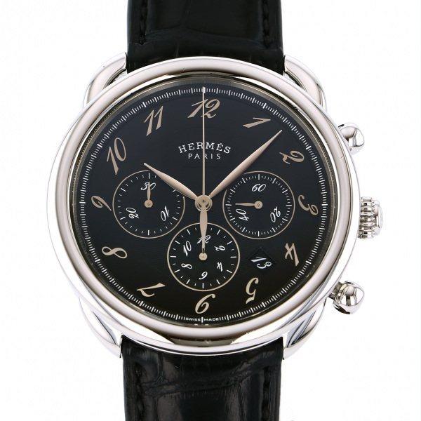 【期間限定ポイント5倍 5/5~5/31】 エルメス HERMES その他 アルソー クロノグラフ AR4.910A ブラック文字盤 メンズ 腕時計 【中古】