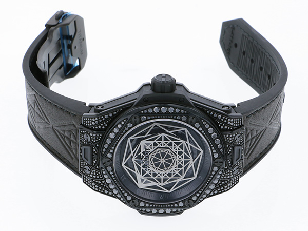 ウブロ HUBLOT ビッグバン ウニコ サンブルー オールブラック 415.CX.1114.VR.1700.MXM17 ブラック文字盤 メンズ 腕時計 【新品】