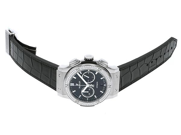 ウブロ HUBLOT クラシック フュージョンクロノグラフ 541.NX.1171.LR.1104 ブラック文字盤 メンズ 腕時計 【新品】