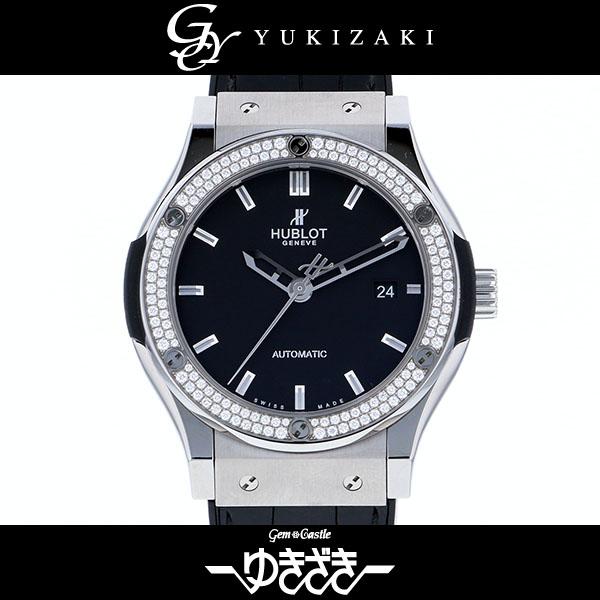 ウブロ HUBLOT クラシックフュージョン チタニウム ダイヤモンド 542.NX.1170.LR.1104 ブラック文字盤 メンズ 腕時計 【新品】