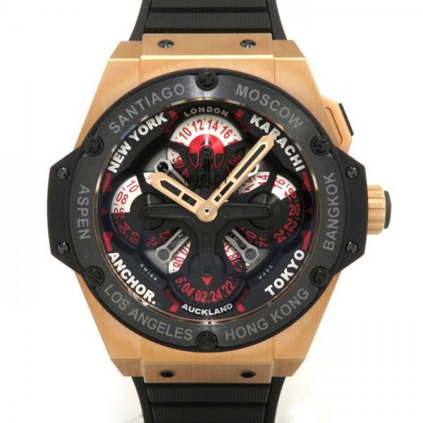 ウブロ HUBLOT ビッグバン キングパワー ウニコ GMT セラミック 771.OM.1170.RX ブラック文字盤 メンズ 腕時計 【新品】