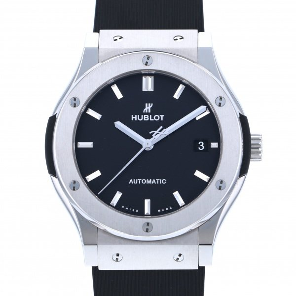 【全品 ポイント10倍 4/9~4/16】ウブロ HUBLOT クラシックフュージョン チタニウム 511.NX.1171.RX ブラック文字盤 メンズ 腕時計 【中古】
