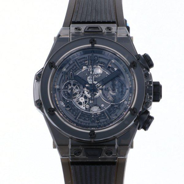 ウブロ HUBLOT ビッグバン ウニコ サファイア オールブラック 世界限定500本 411.JB.4901.RT ブラック文字盤 メンズ 腕時計 【新品】