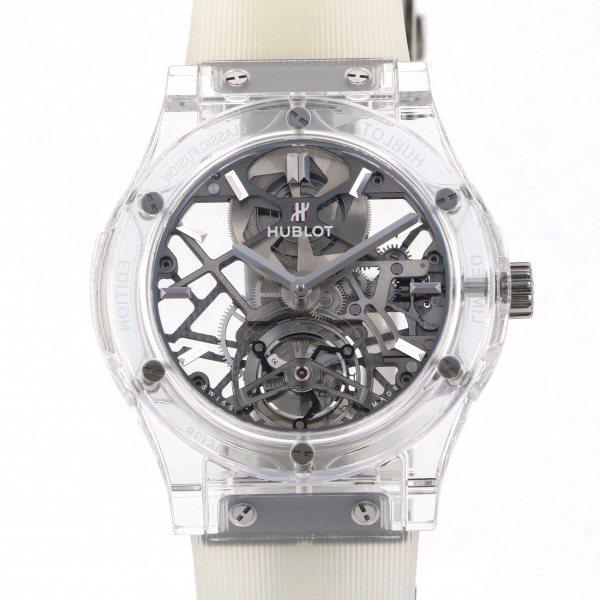 ウブロ HUBLOT クラシックフュージョン トゥールビヨン サファイア 505.JX.0120.RT.YOS18 グレー文字盤 メンズ 腕時計 【未使用】