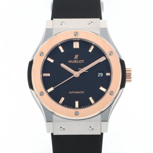 ウブロ HUBLOT クラシックフュージョン チタニウム キングゴールド 542.NO.1181.RX ブラック文字盤 メンズ 腕時計 【新品】