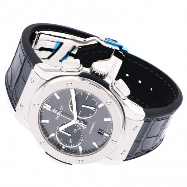 ウブロ HUBLOT クラシックフュージョン クロノグラフ チタニウム レーシング グレー 521.NX.7071.LR グレー文字盤 メンズ 腕時計 【新品】