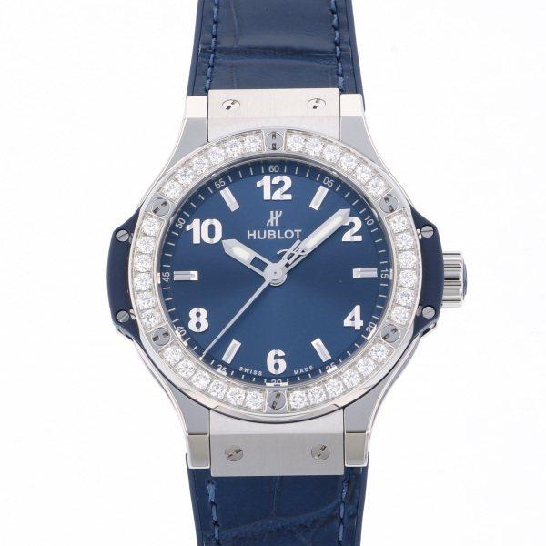 ウブロ HUBLOT ビッグバン スチール ブルー ダイヤモンド 361.SX.7170.LR.1204 ブルー文字盤 レディース 腕時計 【新品】
