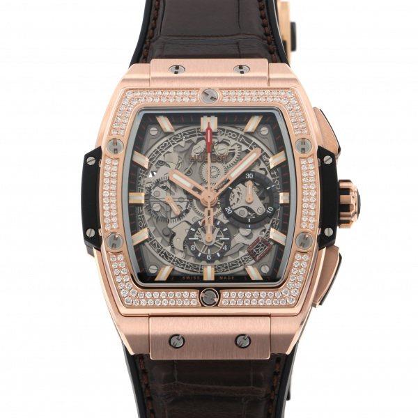ウブロ HUBLOT スピリット・オブ・ビッグバン キングゴールド ダイヤモンド 641.OX.0183.LR.1104 シルバー文字盤 メンズ 腕時計 【新品】