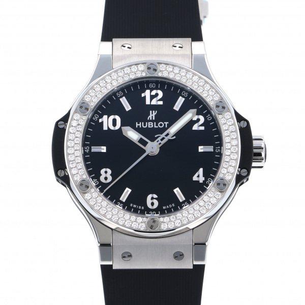 ウブロ HUBLOT ビッグバン スチール ダイヤモンド 361.SX.1270.RX.1104 ブラック文字盤 レディース 腕時計 【新品】
