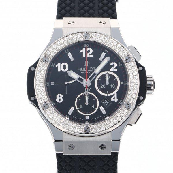 ウブロ HUBLOT ビッグバン スチール ダイヤモンド 301.SX.130.RX.114 ブラック文字盤 メンズ 腕時計 【中古】