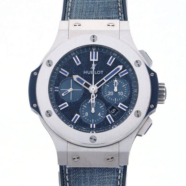 ウブロ HUBLOT ビッグバン ジーンズ スチール ブルー 日本限定100本 301.SX.2770.NR.JPN15 ブルー文字盤 メンズ 腕時計 【中古】