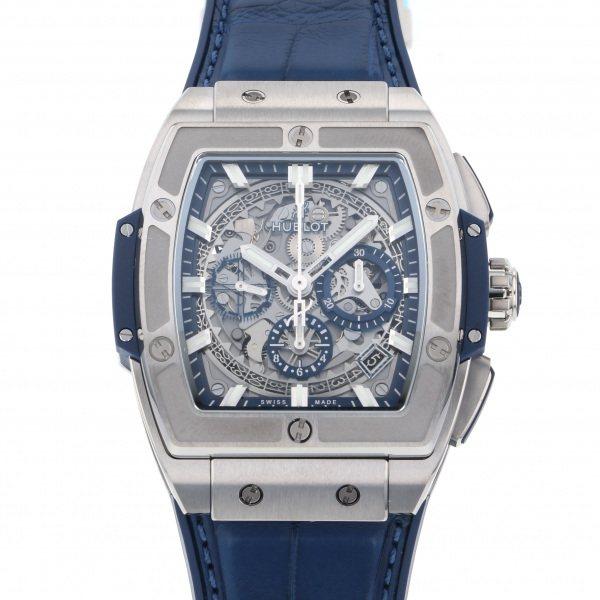 ウブロ HUBLOT スピリット・オブ・ビッグバン チタニウム ブルー 641.NX.7170.LR グレー文字盤 メンズ 腕時計 【新品】