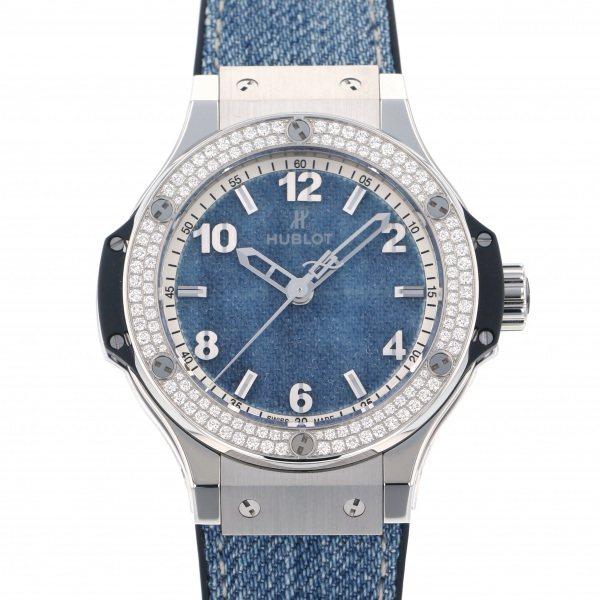 ウブロ HUBLOT ビッグバン ジーンズ ダイヤモンド 日本限定モデル 361.SX.2710.NR.1104 ブルー文字盤 レディース 腕時計 【新品】