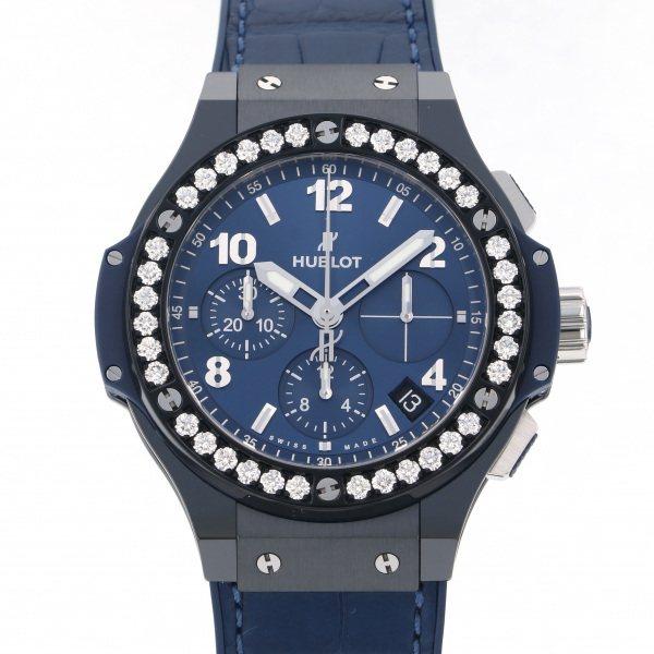 ウブロ HUBLOT ビッグバン セラミック ブルー ダイヤモンド 341.CM.7170.LR.1204 ブルー文字盤 メンズ 腕時計 【新品】