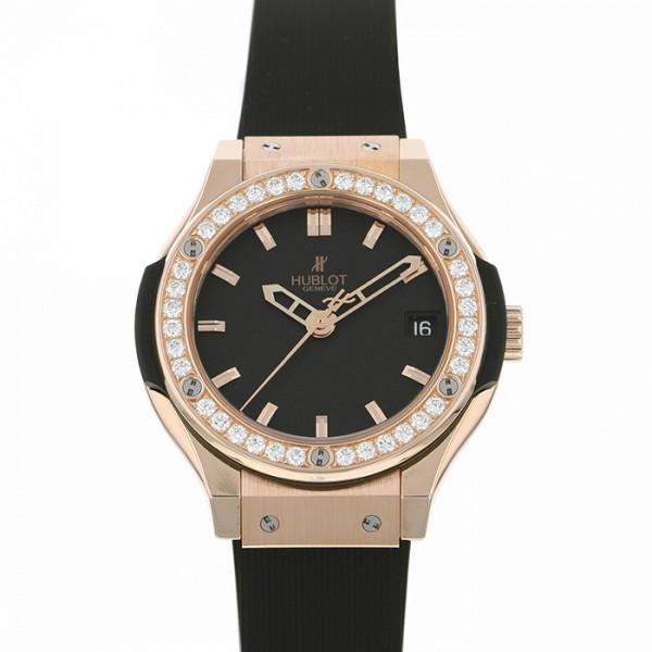 ウブロ HUBLOT クラシックフュージョン キングゴールド ダイヤモンド 581.OX.1180.RX.1104 ブラック文字盤 レディース 腕時計 【新品】
