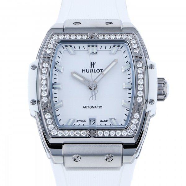 ウブロ HUBLOT スピリット・オブ・ビッグバン チタニウム ホワイト ダイヤモンド 665.NE.2010.RW.1204 ホワイト文字盤 レディース 腕時計 【新品】