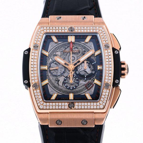 ウブロ HUBLOT スピリット・オブ・ビッグバン キングゴールド ダイヤモンド 601.OX.0183.LR.1104 グレー文字盤 メンズ 腕時計 【中古】