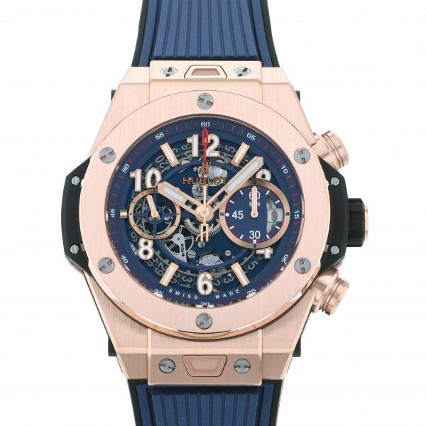 ウブロ HUBLOT ビッグバン ウニコ キングゴールド ブルー 441.OX.5189.RX ブルー文字盤 メンズ 腕時計 【新品】