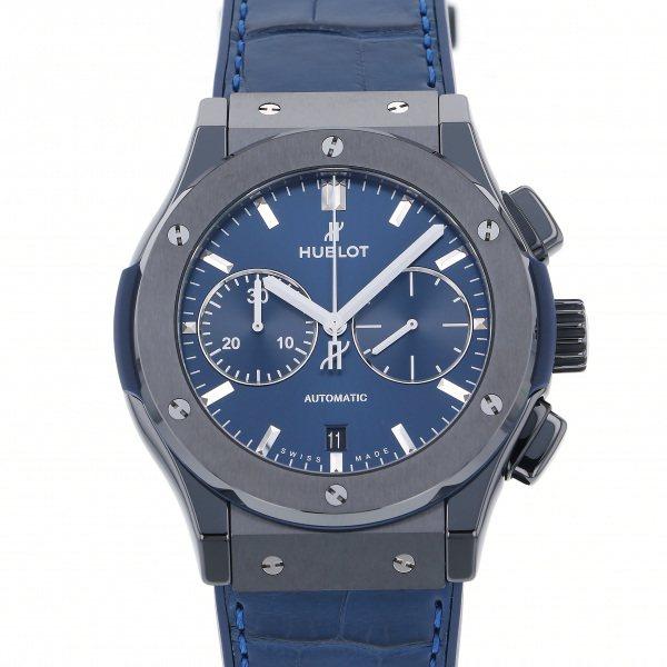 ウブロ HUBLOT クラシックフュージョン クロノグラフ セラミック ブルー 521.CM.7170.LR ブルー文字盤 メンズ 腕時計 【新品】