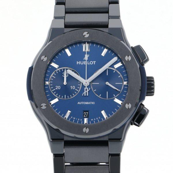 ウブロ HUBLOT クラシックフュージョン クロノグラフ セラミック ブルー ブレスレット 520.CM.7170.CM ブルー文字盤 メンズ 腕時計 【新品】
